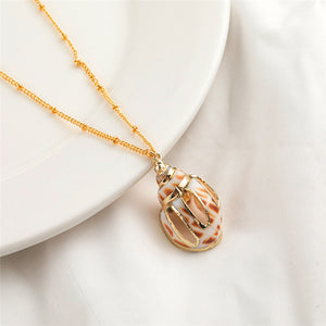 Simple Natural Seashell Necklace