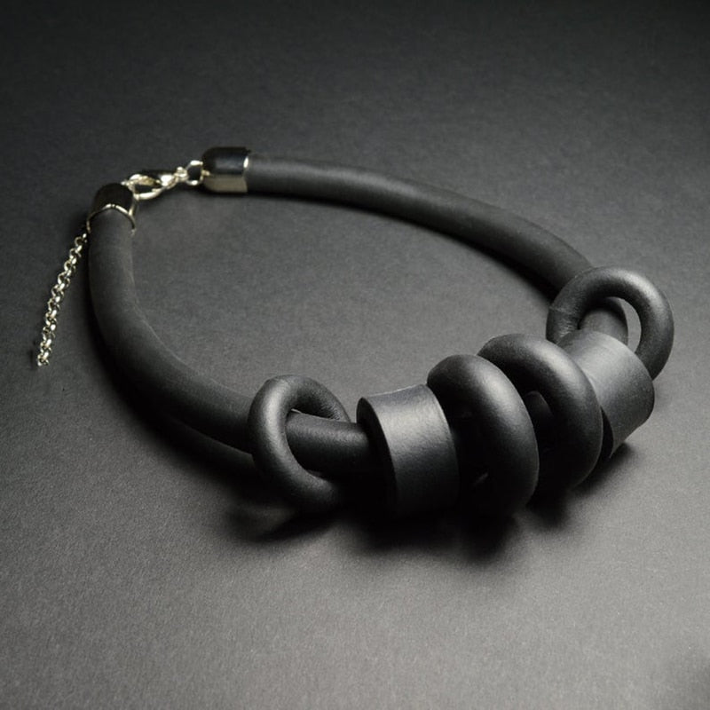 Rubber Pendant Necklace