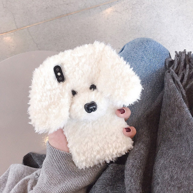 CUTE Rabbit Dog Cat Plush Phone Case- iPhone