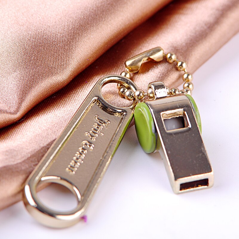 Gold Color Sound Whistle Keychain