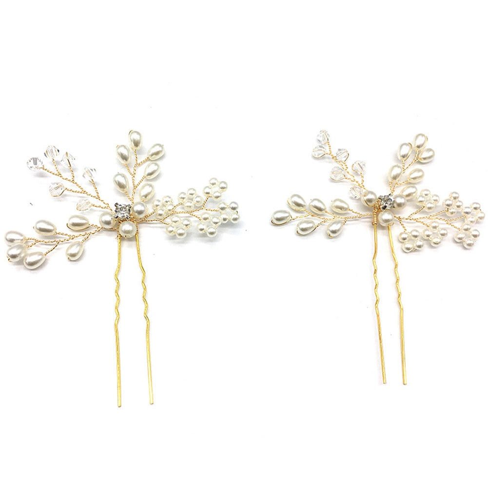 Pearl Crystal Hair Pin Clips (1 pc)