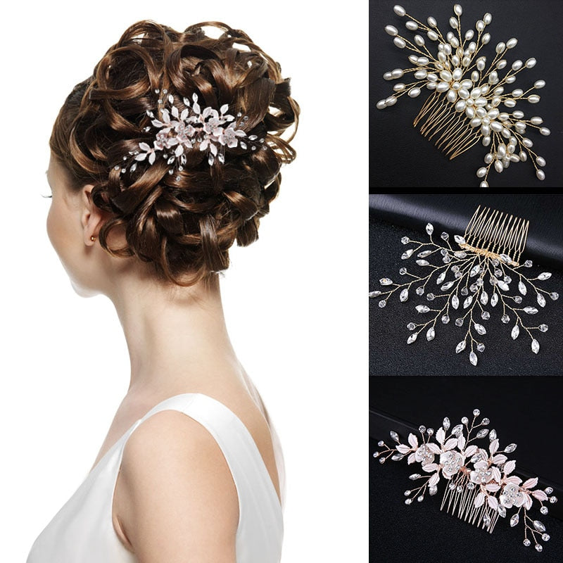Comb Ornaments Shining Flower Hair Piece