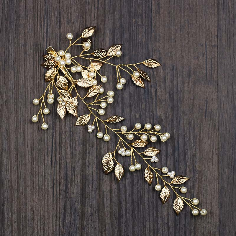 Golden Leaves Hair Pin