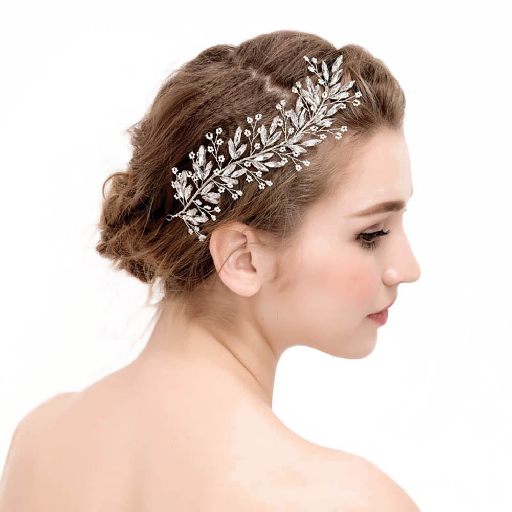Crystal Leaves Hair Ornaments