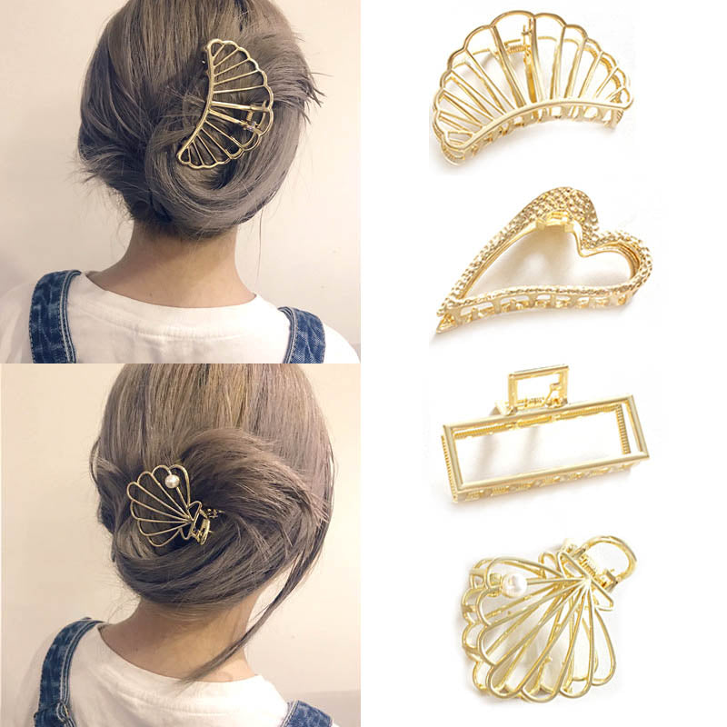 Hollow Metal Hair Claw Clips