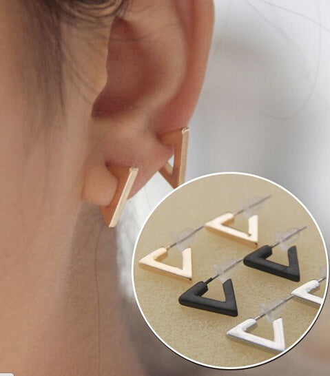 Triangle Square Stud Earrings
