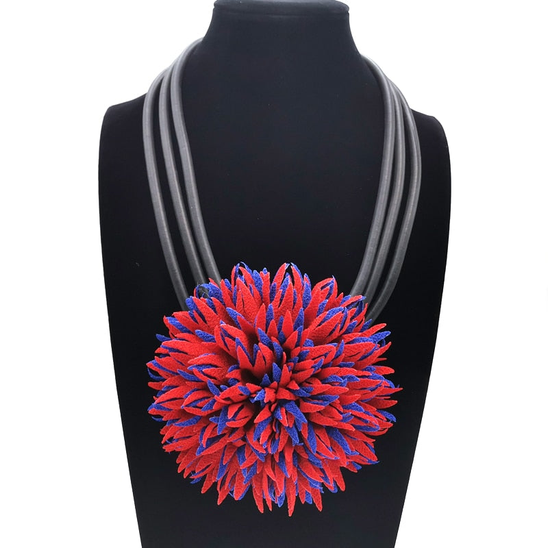Big Color Flowers Necklaces