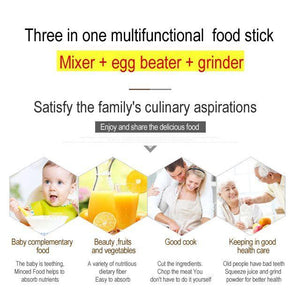 【60% OFF only Today】3 in 1 multifunctional food stick
