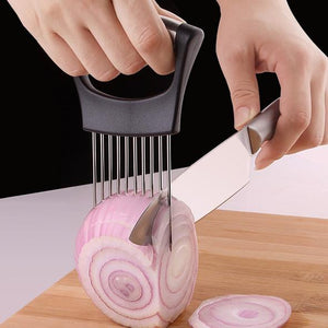 30% OFF-Stainless Steel Onion holder for chopping