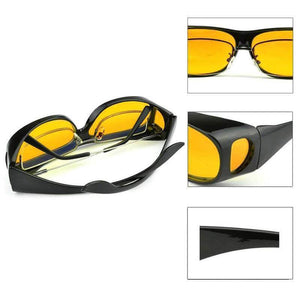 Yellow anti-shine night driving glasses