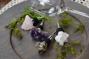 Gorgeous-Gemstone-Wine Stopper-Quartz