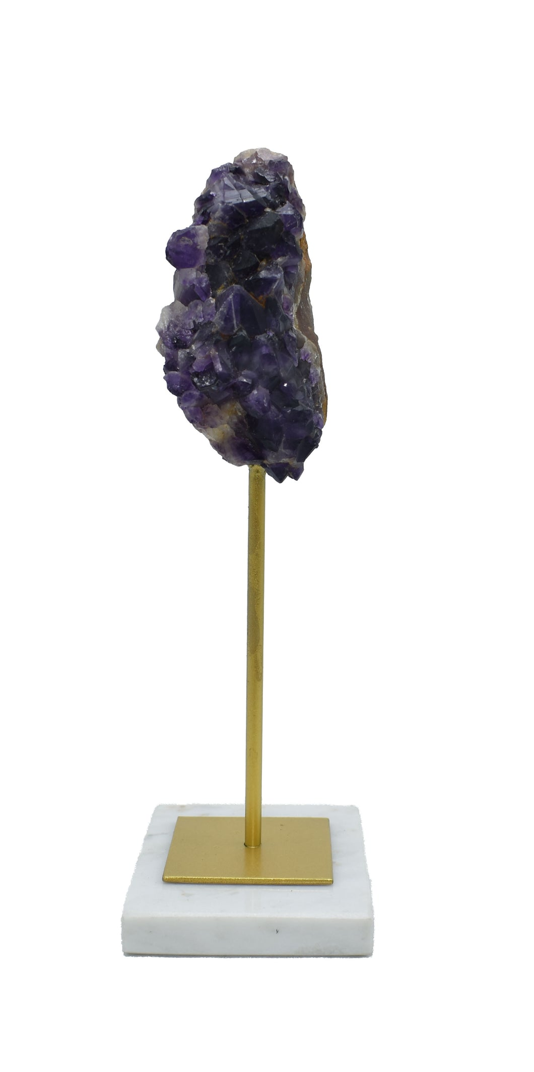 Amethyst Specimen on Marble Stand