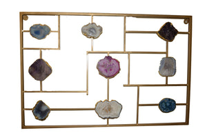 Wall Mount-Gold Trim-Agate
