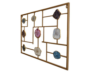 Decorative Wall Mount with Agate Slices