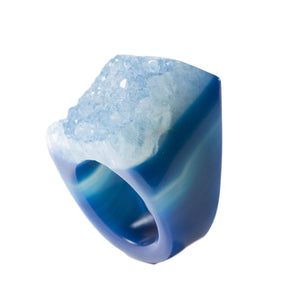 Agate- Ring-Ring-Blue