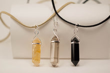 Load image into Gallery viewer, Rose Quartz-Quartz-Gold Trim-Black Obsidian-Amethyst