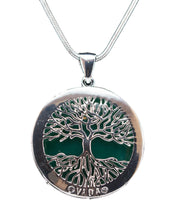 Load image into Gallery viewer, Tree of Life-Silver Trim-pendant
