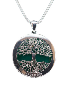 Tree of Life-Silver Trim-pendant