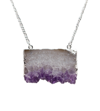 Load image into Gallery viewer, Stone-Pendant-necklace-Amethyst