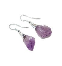 Load image into Gallery viewer, quartz-jewelry-earrings-amethyst