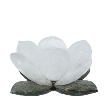 Load image into Gallery viewer, Flower-Quartz-Candleholder-Crystal quartz