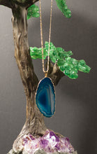Load image into Gallery viewer, Agate-Blue-Teal-Pendants