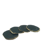 Load image into Gallery viewer, Blue-Slice-Agate-Coasters