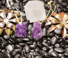 Load image into Gallery viewer, Purple--Silver-Gold-AMethyst