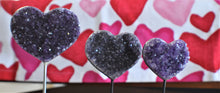 Load image into Gallery viewer, Amethyst Heart on Silver Wire