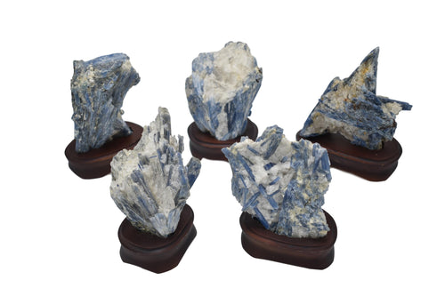 Kyanite on Wood Base