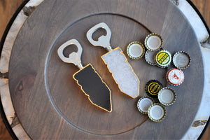 Bottle Opener with Gold Trim