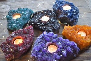 Dyed-votive-Dyed Amethyst-Candle Holder