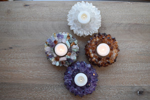 Votive-Rose Quartz-Quartz-Citrine-Candle Holder