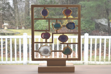 Load image into Gallery viewer, Gold Trim-Agate Slices-Agate