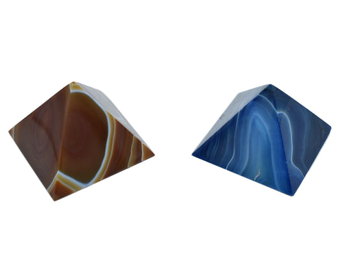 Sleek Pyramid-Blue-Brown