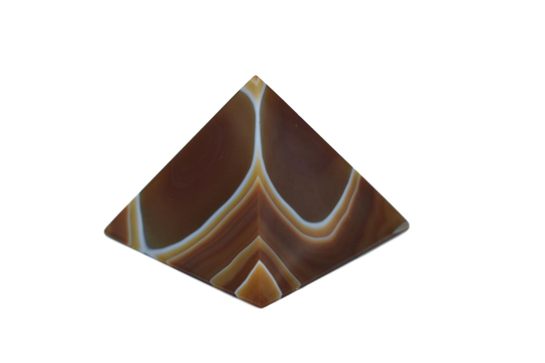 Sleek Pyramid-Brown-Pyramid-Agate