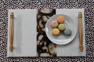 Natural Pattern-Serving Tray-Marble-agate