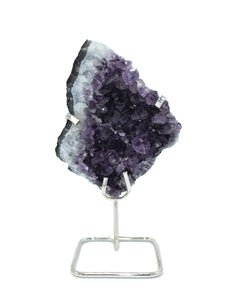 Amethyst Cluster on Wire Stand