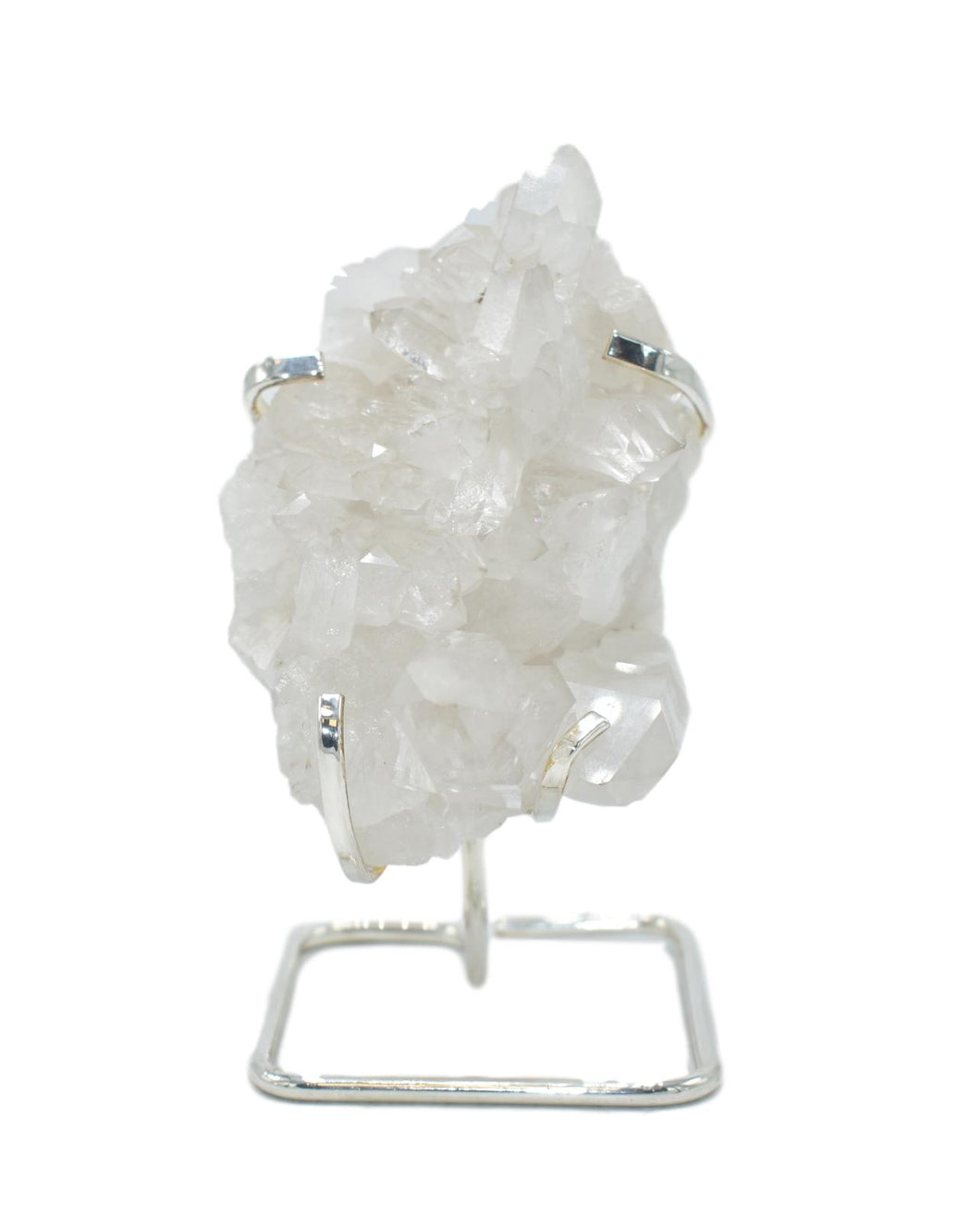 Quartz Cluster on Wire Stand