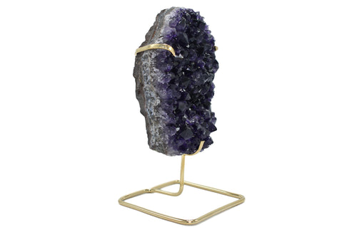 Amethyst Specimen on Gold Wire Stand