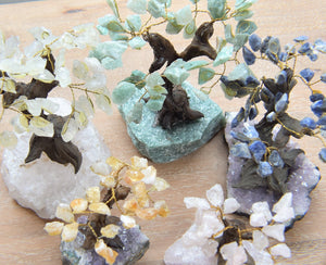 Green Quartz-Citrine-Bonsai Tree-Amethyst