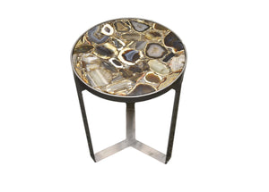 Table-Silver Base-Gold Base-Agate