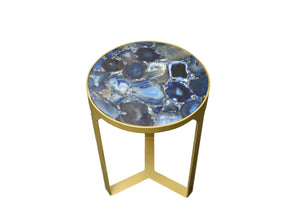 Silver Base-Agate-accent table