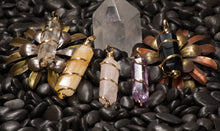 Load image into Gallery viewer, Gold Trim-Citrine-Amethyst
