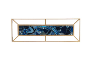 Blue Agate with Gold Frame Wall Décor