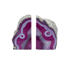 Load image into Gallery viewer, Agate-Bookend-Silver