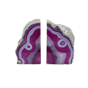 Agate-Bookend-Silver