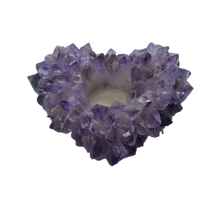Load image into Gallery viewer, Votive-Heart-Points-Candle Holder-Amethyst