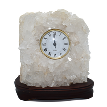 Load image into Gallery viewer, Quartz Clock in Wood Base