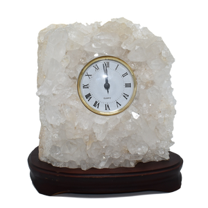 Quartz Clock in Wood Base